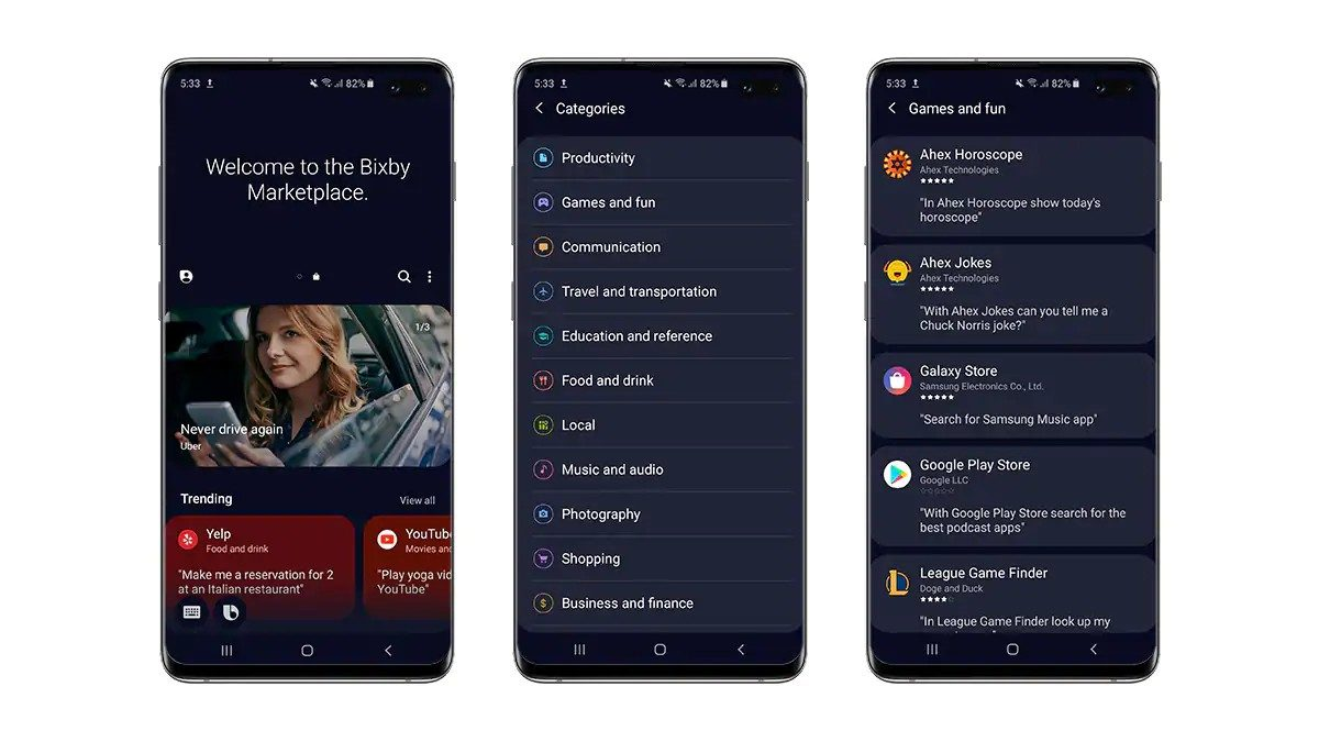Samsung Launches Bixby Store