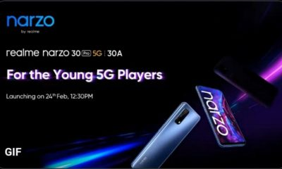 Realme Narzo 30 Pro 5G And Narzo 30A Unveiled