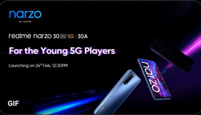 Realme Narzo 30 Pro 5G And Narzo 30A Unveiled
